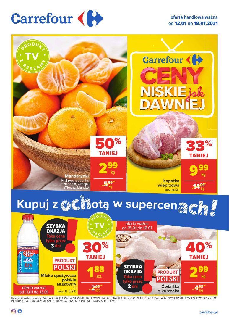 Gazetka promocyjna Carrefour do 18/01/2021 str.1