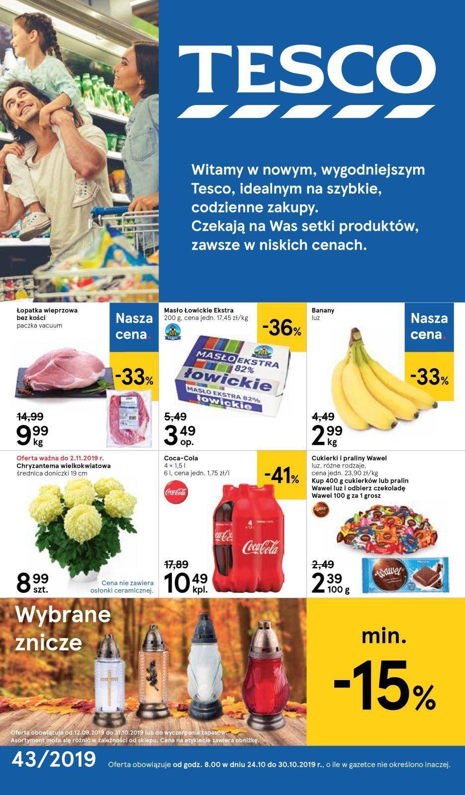 Gazetka promocyjna Tesco do 30/10/2019 str.1