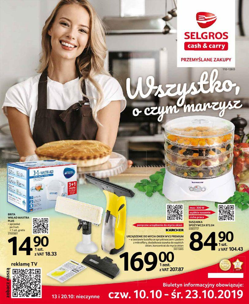 Gazetka promocyjna Selgros do 23/10/2019 str.1