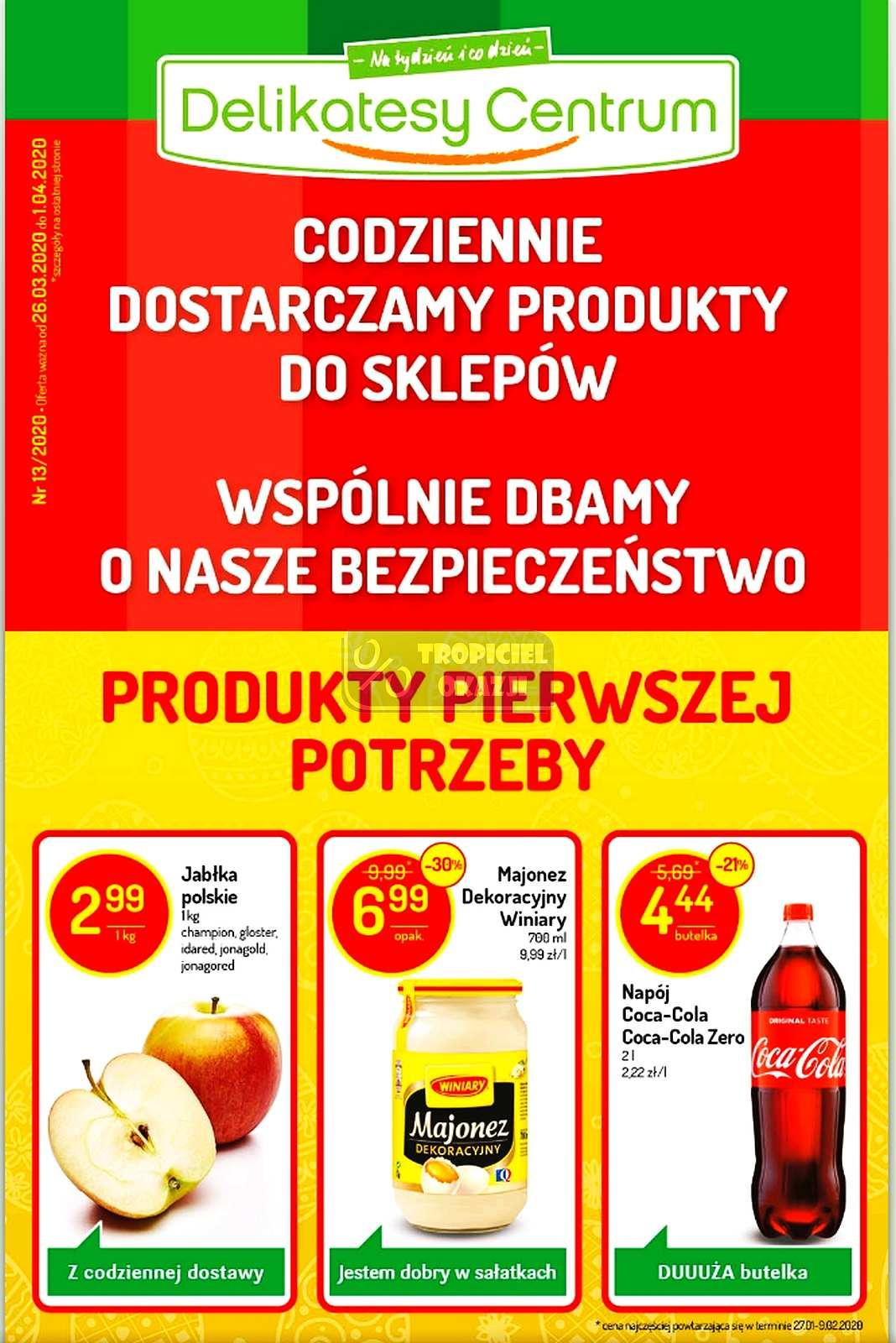 Gazetka promocyjna Delikatesy Centrum do 01/04/2020 str.1