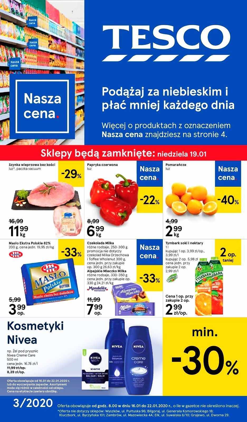 Gazetka promocyjna Tesco do 22/01/2020 str.1
