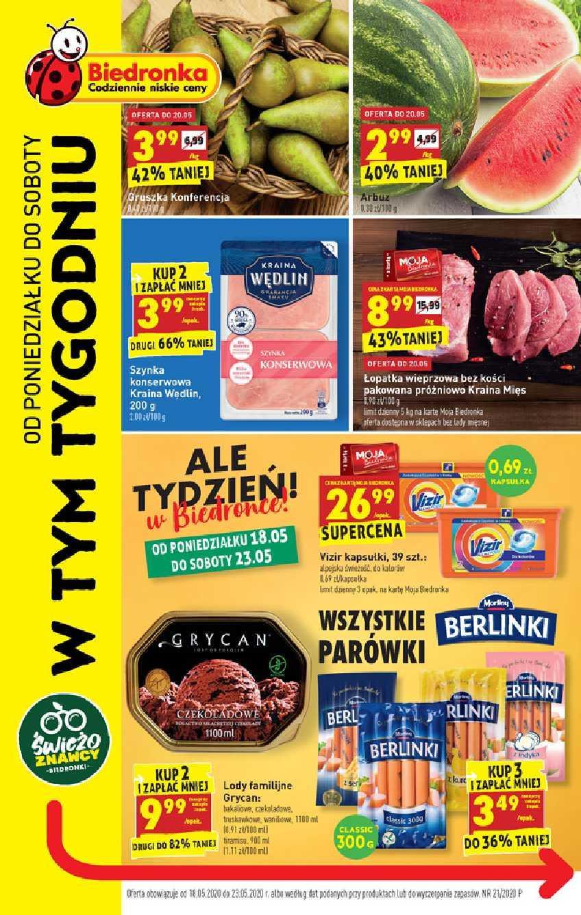 Gazetka promocyjna Biedronka do 23/05/2020 str.0