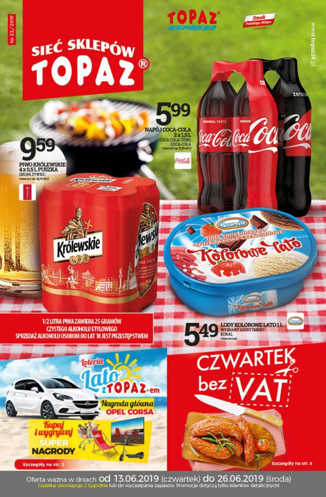 Gazetka promocyjna Topaz do 26/06/2019 str.1