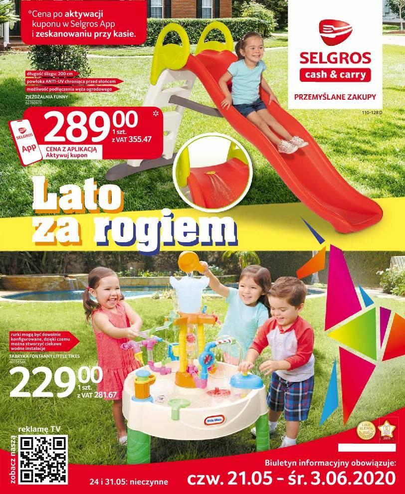 Gazetka promocyjna Selgros do 03/06/2020 str.1