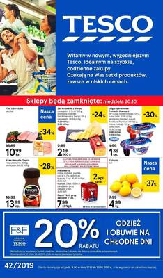 Tesco gazetka - od 17/10/2019 do 23/10/2019