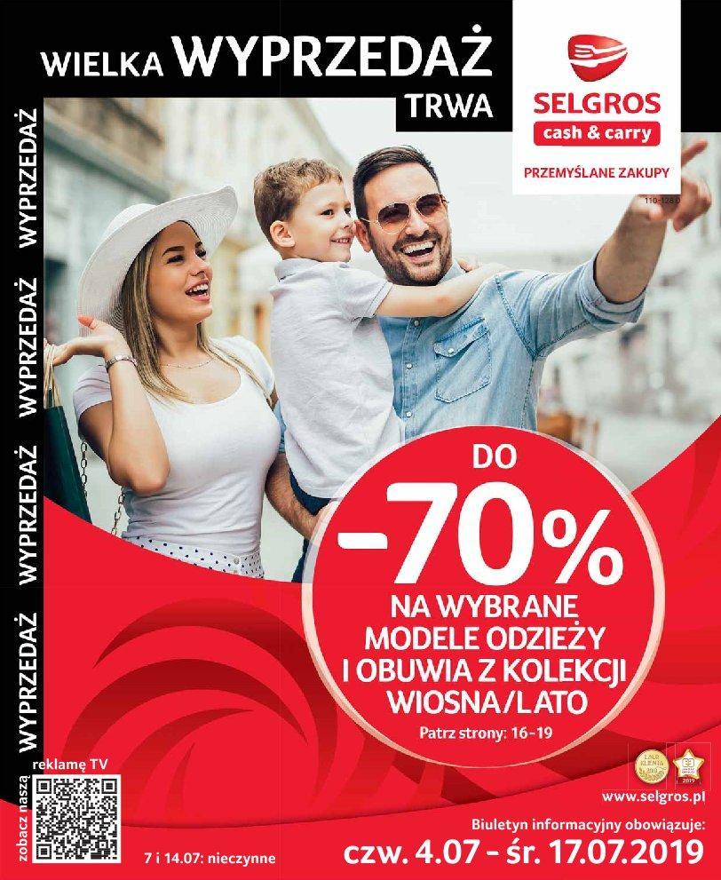 Gazetka promocyjna Selgros do 17/07/2019 str.1