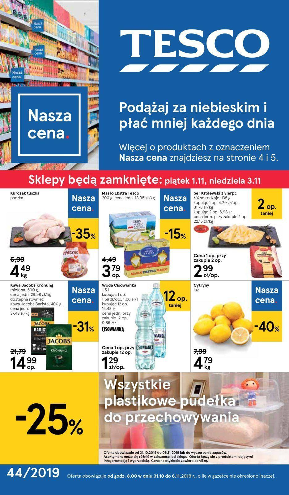 Gazetka promocyjna Tesco do 06/11/2019 str.0