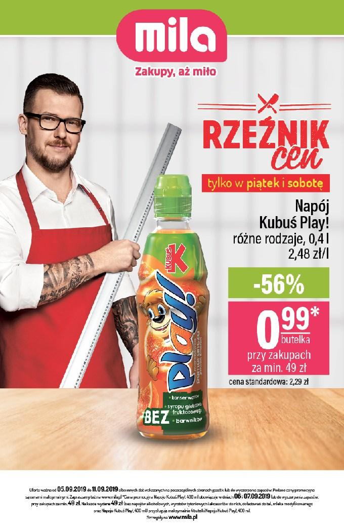 Gazetka promocyjna Mila do 11/09/2019 str.1