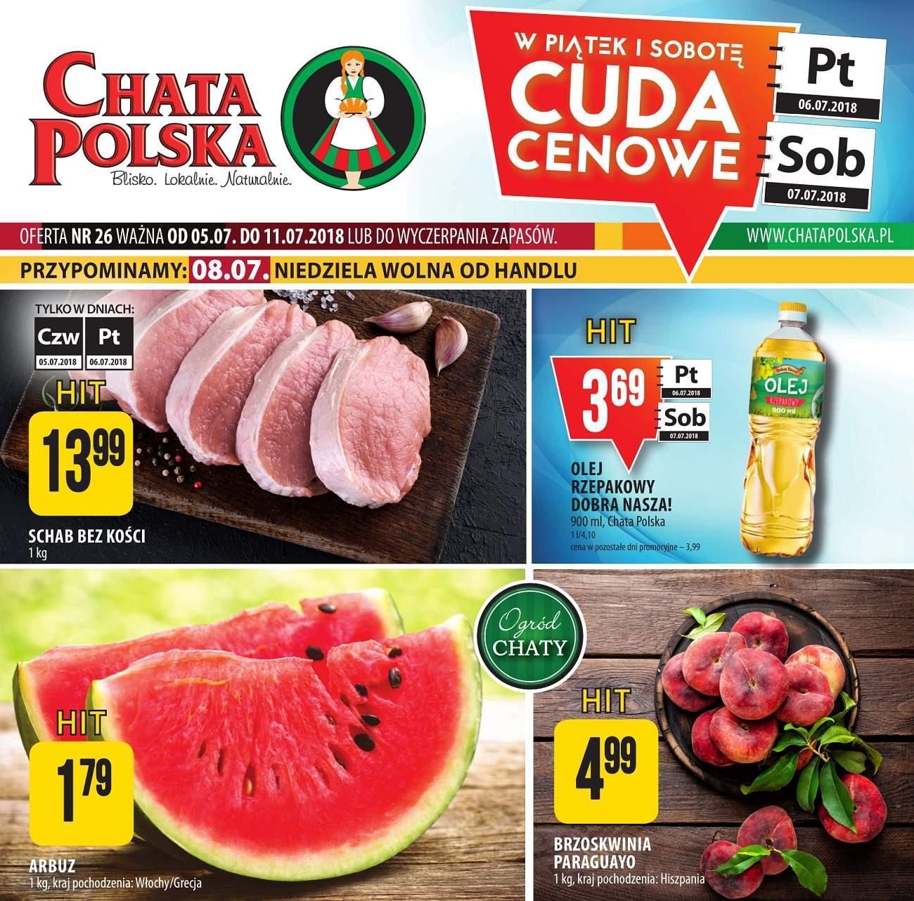 Gazetka promocyjna Chata Polska do 11/07/2018 str.0