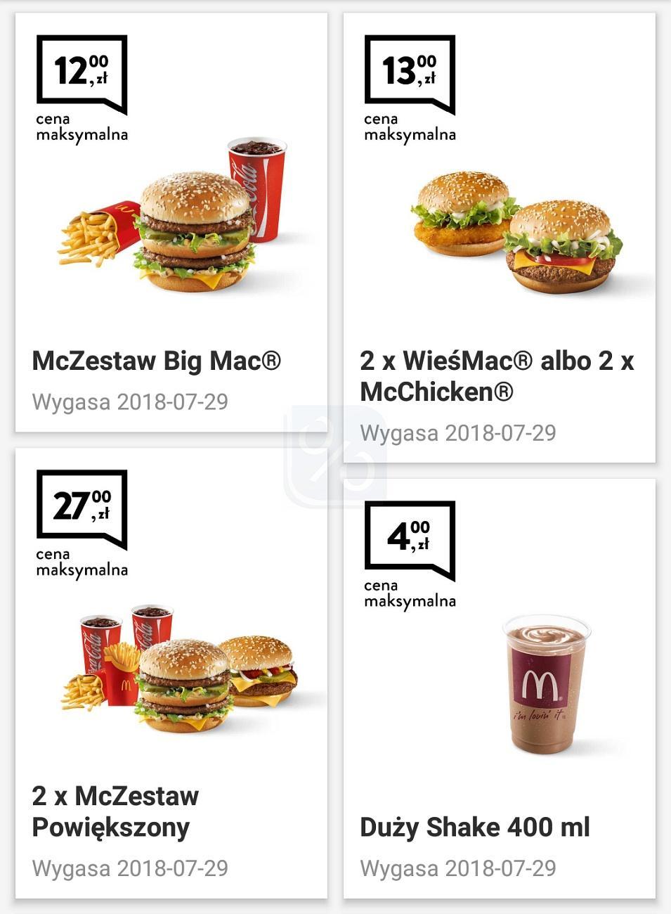 Gazetka promocyjna McDonalds do 29/07/2018 str.0