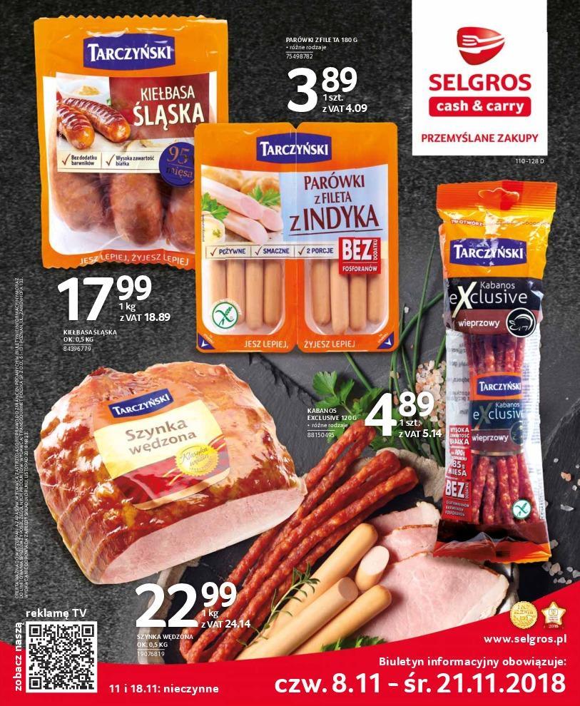 Gazetka promocyjna Selgros do 21/11/2018 str.0