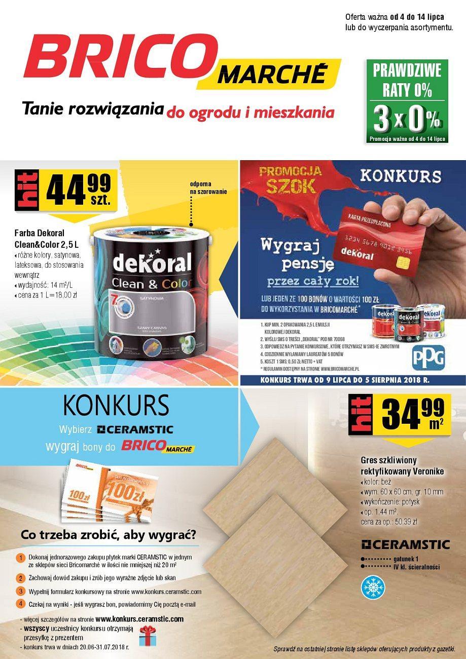 Gazetka promocyjna Bricomarche do 14/07/2018 str.0