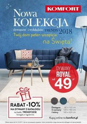 Gazetka promocyjna KOMFORT - od 05/12/2017 do 24/12/2017