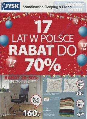Rabat do 70% - 17 lat w Polsce
