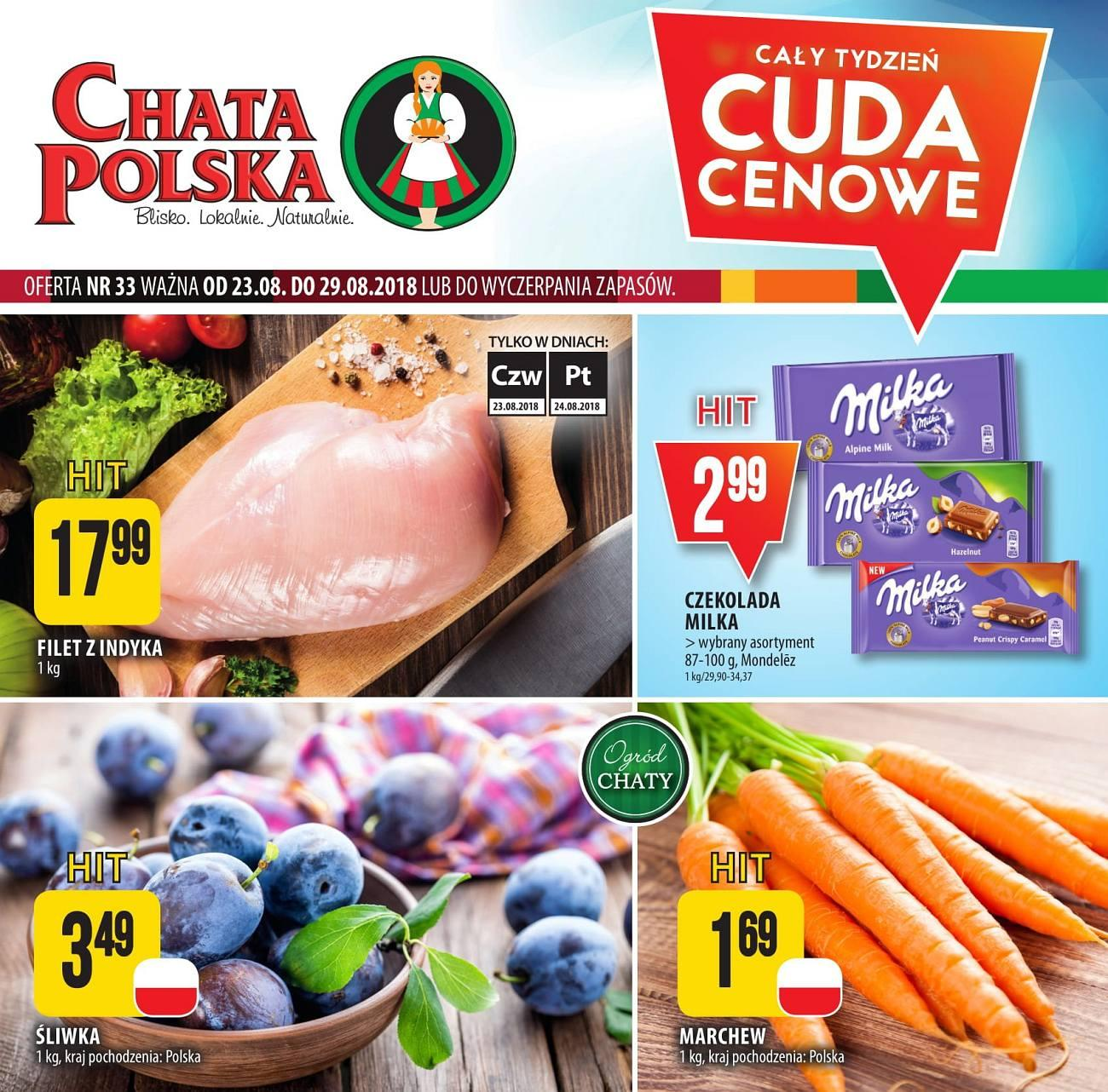 Gazetka promocyjna Chata Polska do 29/08/2018 str.0