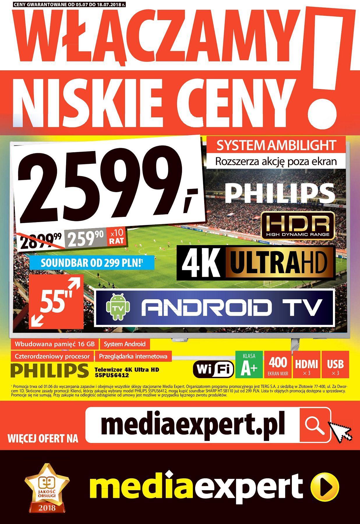 Gazetka promocyjna Media Expert do 18/07/2018 str.0