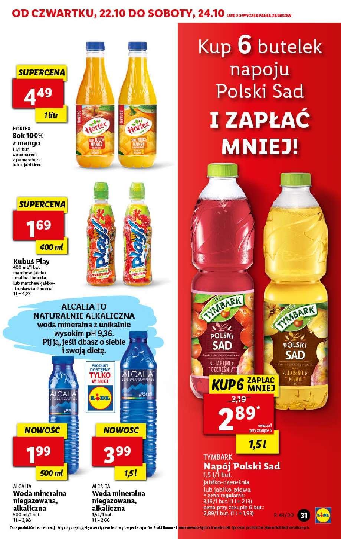 Gazetka promocyjna Lidl do 24/10/2020 str.31