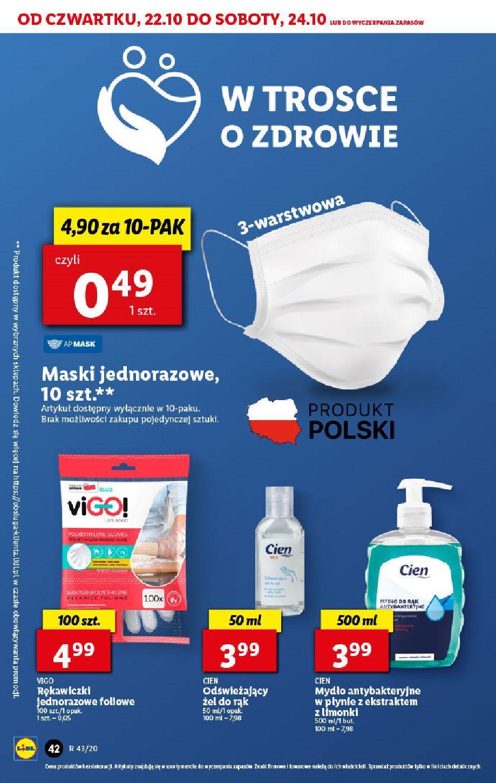 Gazetka promocyjna Lidl do 24/10/2020 str.42