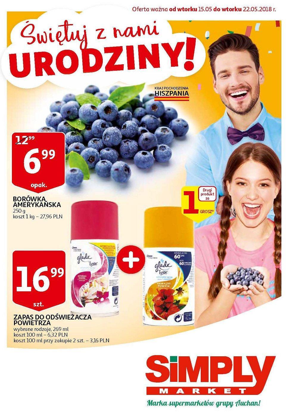 Gazetka promocyjna Simply Market do 22/05/2018 str.0