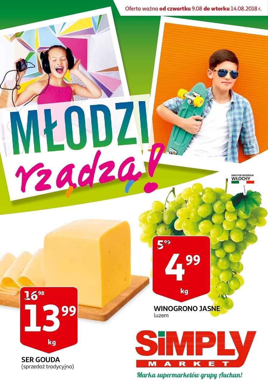 Gazetka promocyjna Simply Market do 14/08/2018 str.1