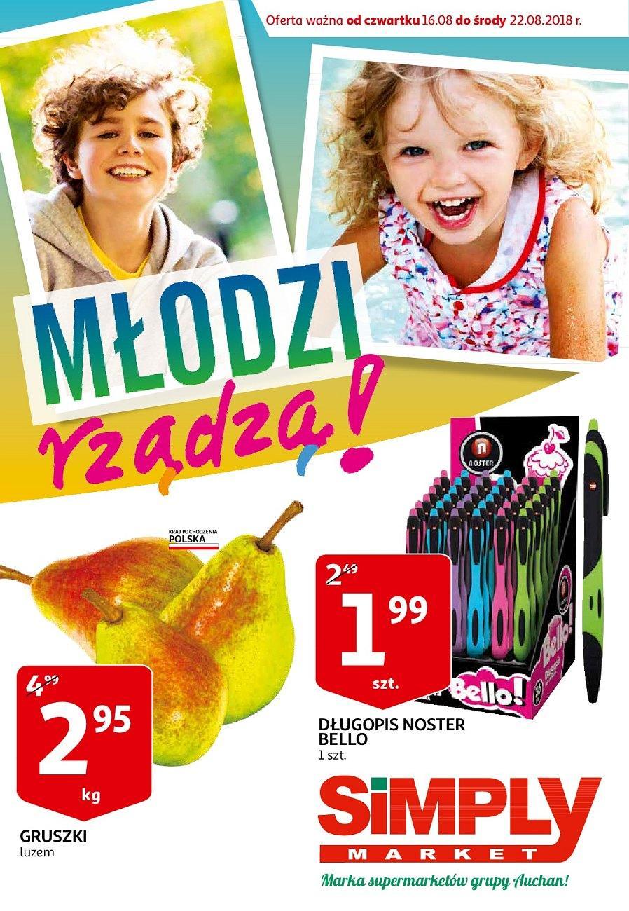 Gazetka promocyjna Simply Market do 22/08/2018 str.0
