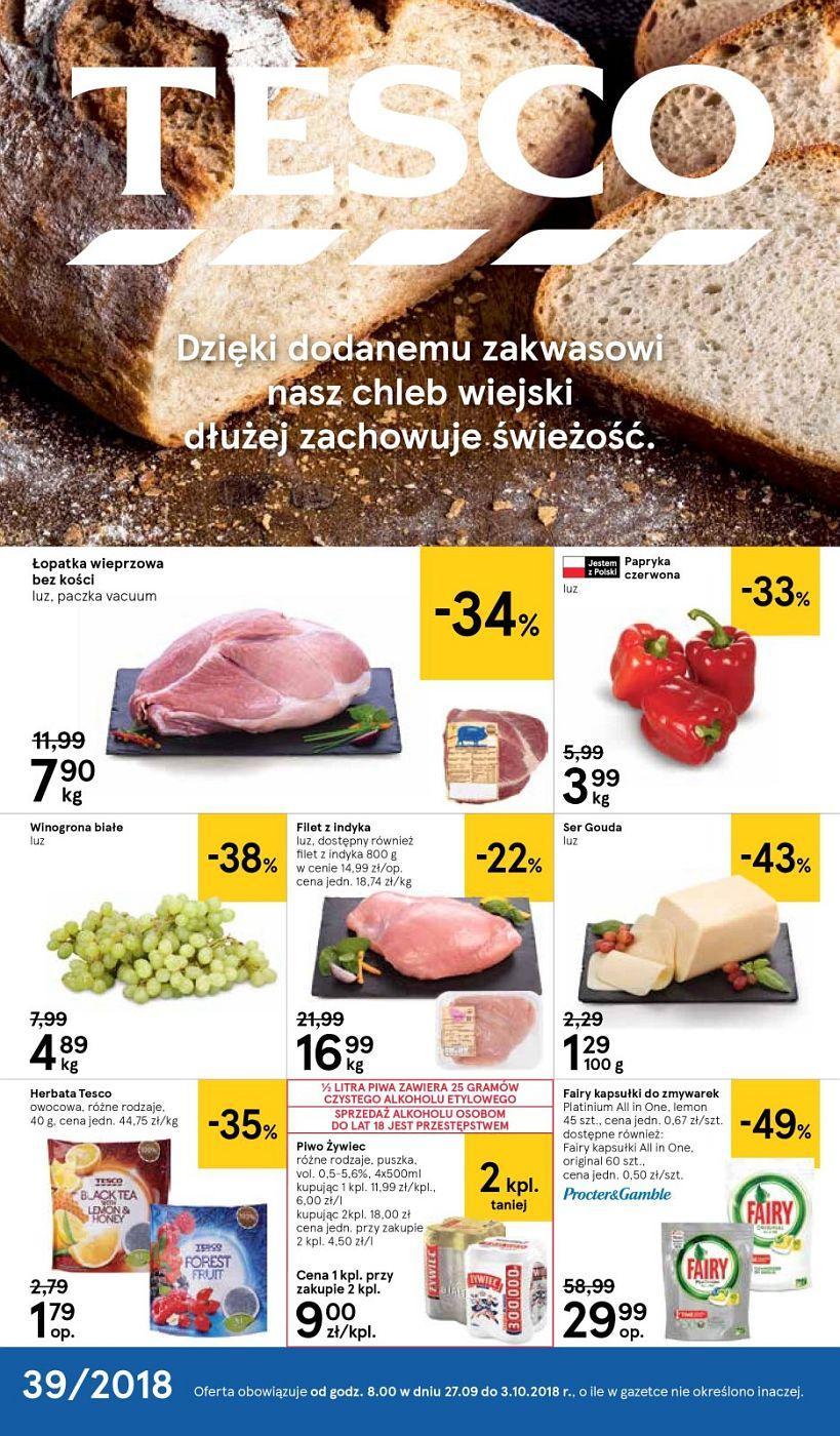 Gazetka promocyjna Tesco do 03/10/2018 str.0