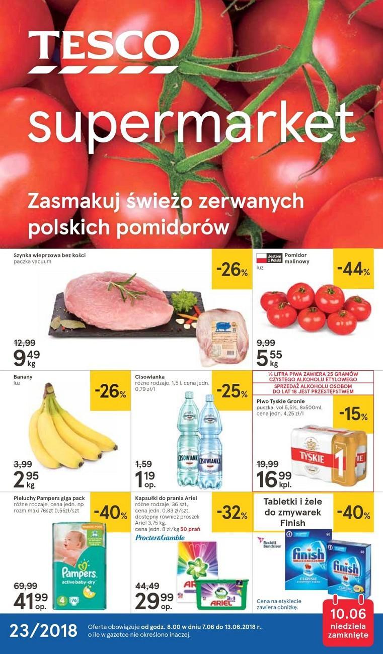 Gazetka promocyjna Tesco do 13/06/2018 str.0