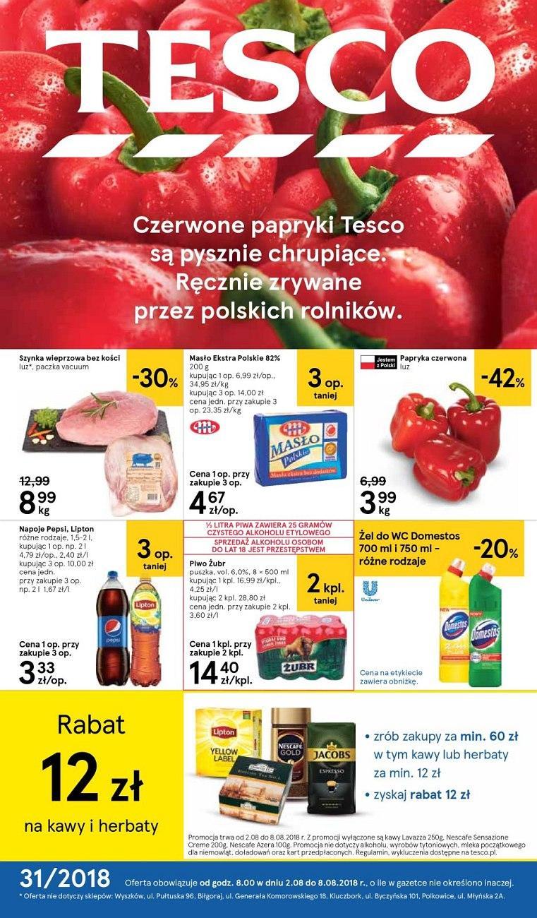 Gazetka promocyjna Tesco do 08/08/2018 str.0