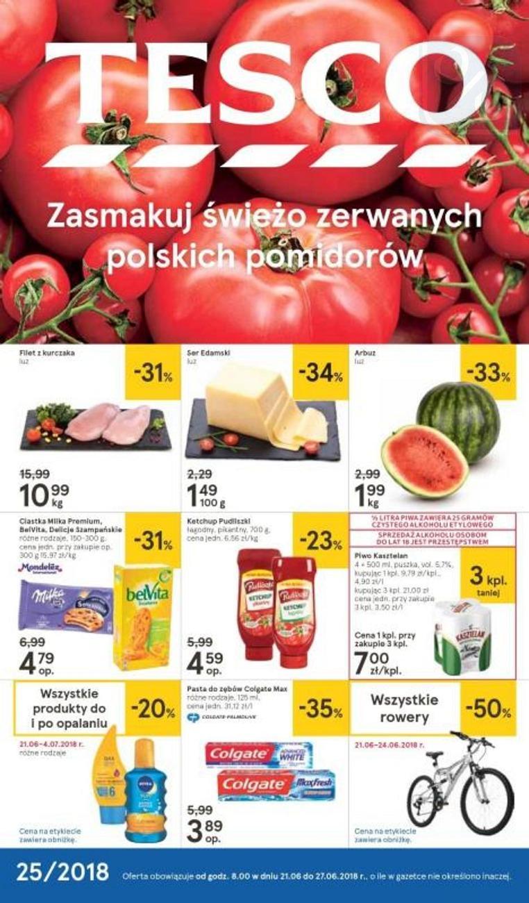 Gazetka promocyjna Tesco do 27/06/2018 str.0