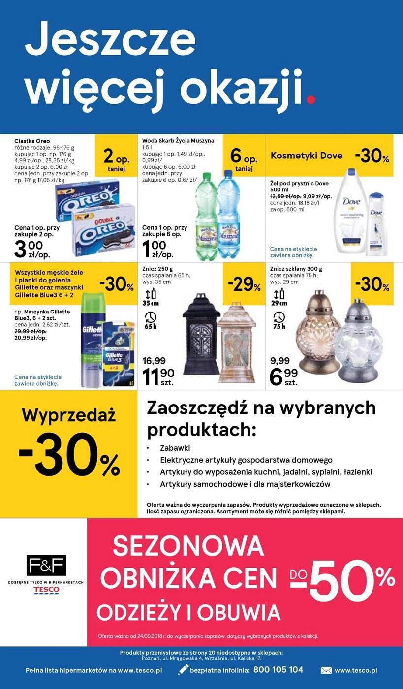 Gazetka promocyjna Tesco do 03/10/2018 str.19