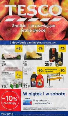 Tesco gazetka - od 19/07/2018 do 25/07/2018