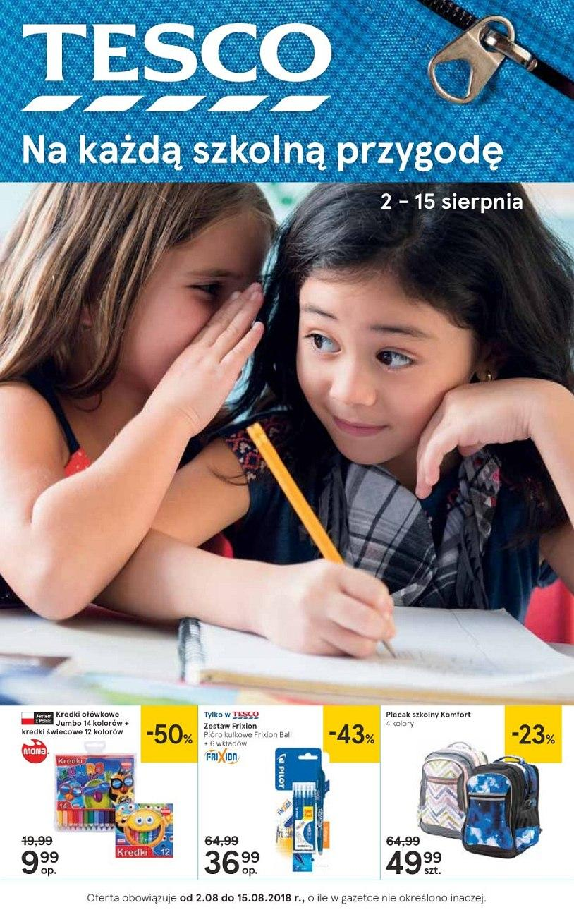 Gazetka promocyjna Tesco do 15/08/2018 str.0