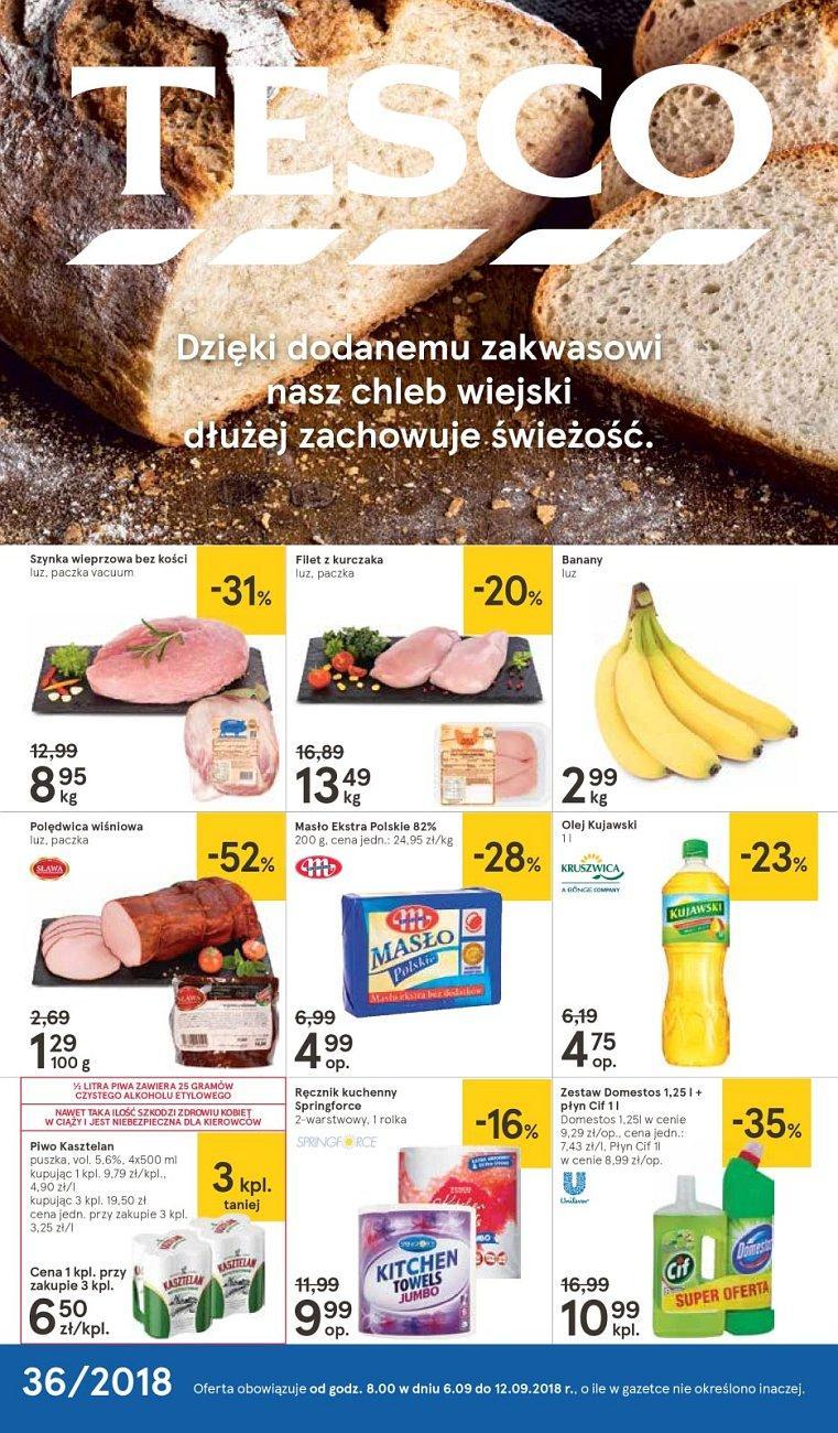 Gazetka promocyjna Tesco do 12/09/2018 str.1