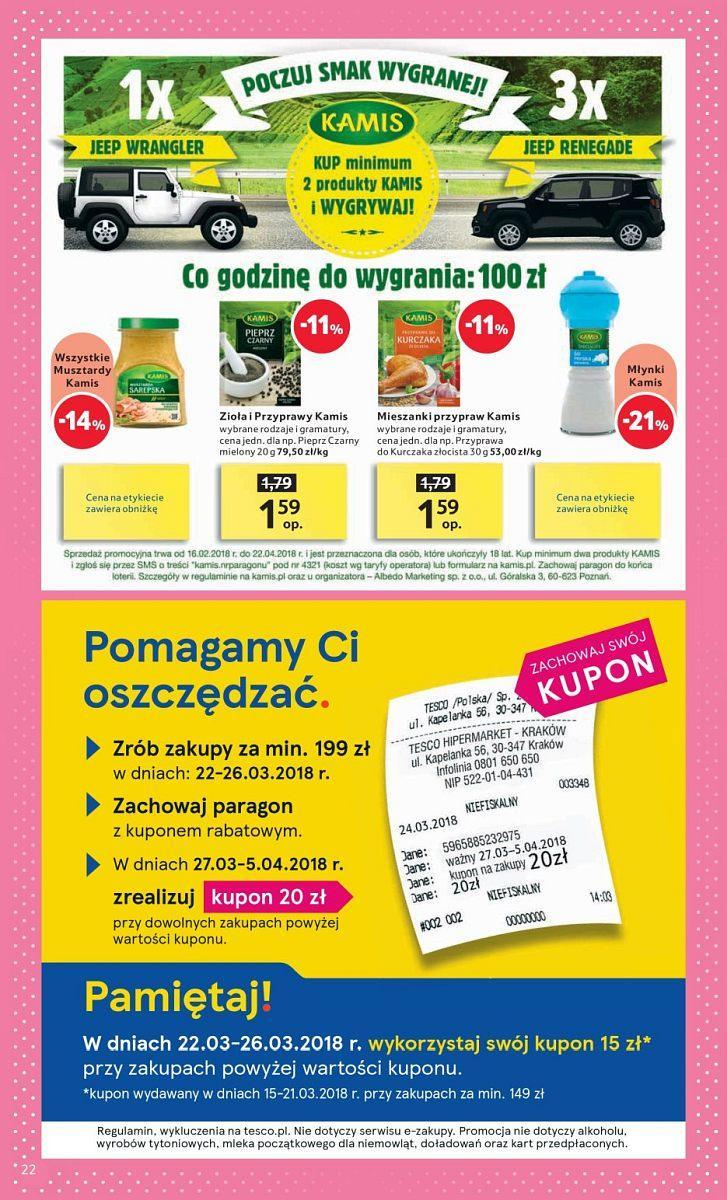 Gazetka promocyjna Tesco do 28/03/2018 str.21