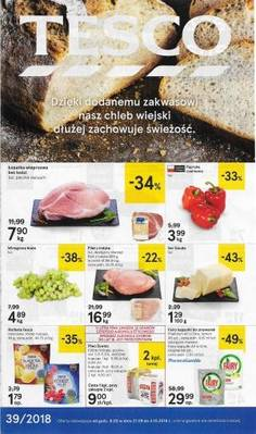 Tesco gazetka - od 27/09/2018 do 03/10/2018