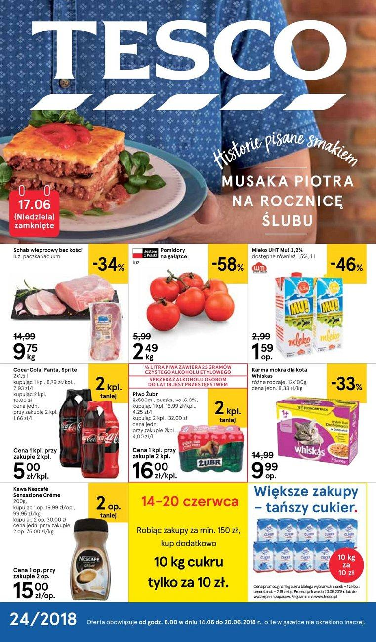 Gazetka promocyjna Tesco do 20/06/2018 str.1
