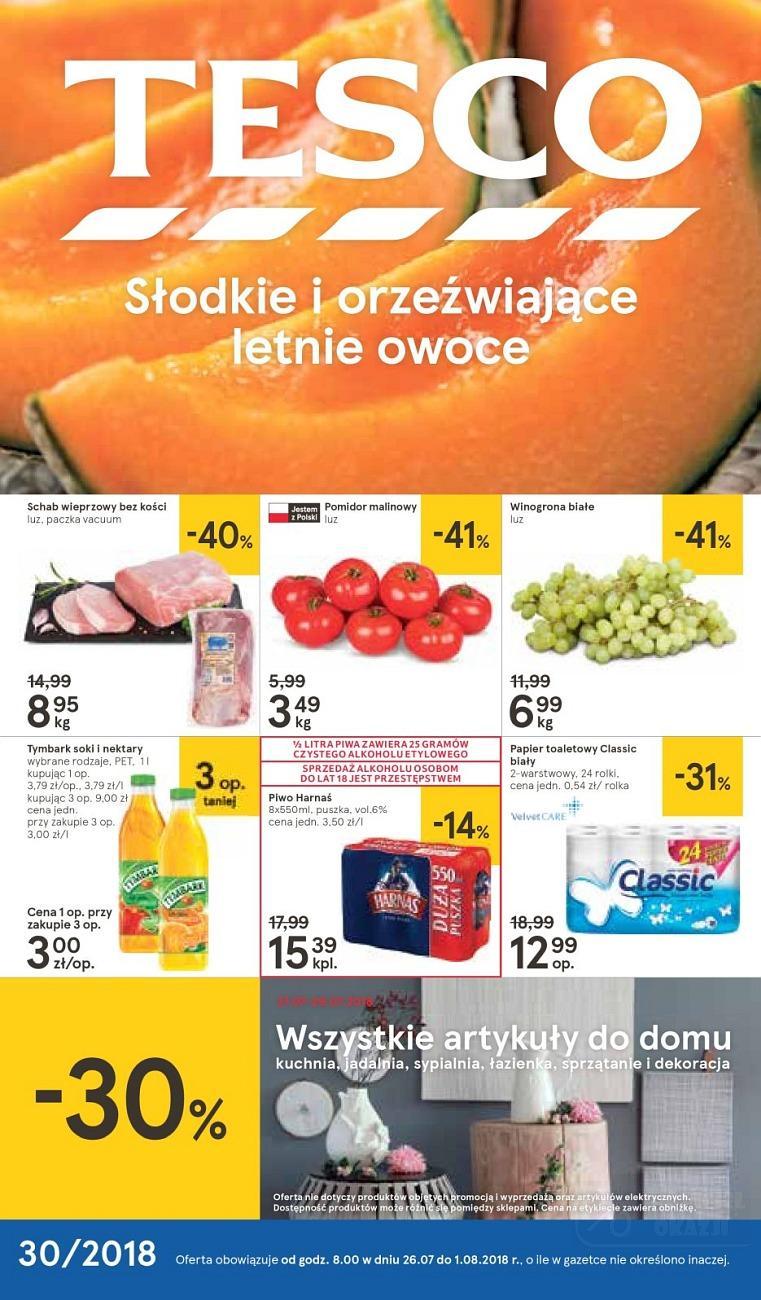 Gazetka promocyjna Tesco do 01/08/2018 str.0