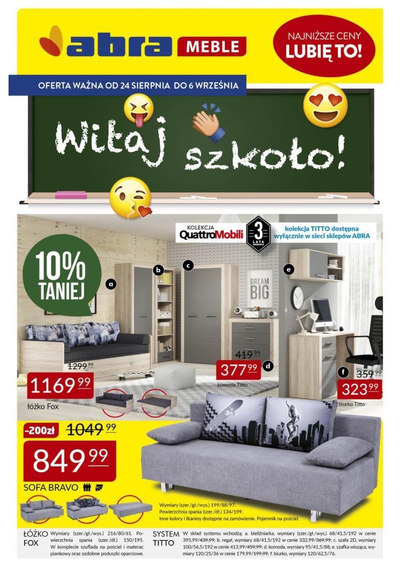 Gazetka promocyjna Abra Meble do 06/09/2018 str.0