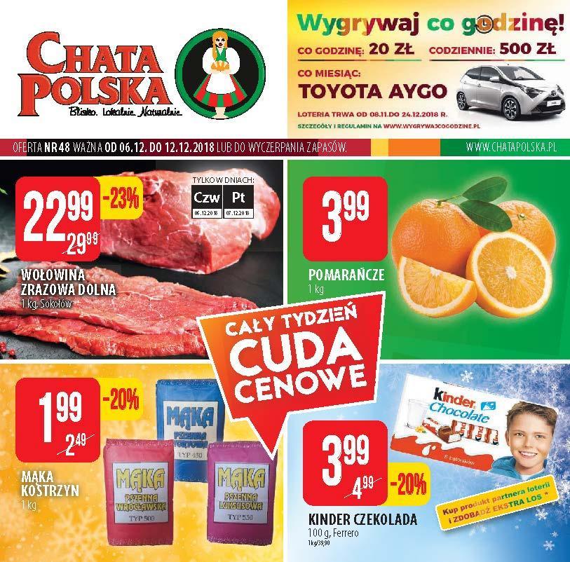 Gazetka promocyjna Chata Polska do 12/12/2018 str.1
