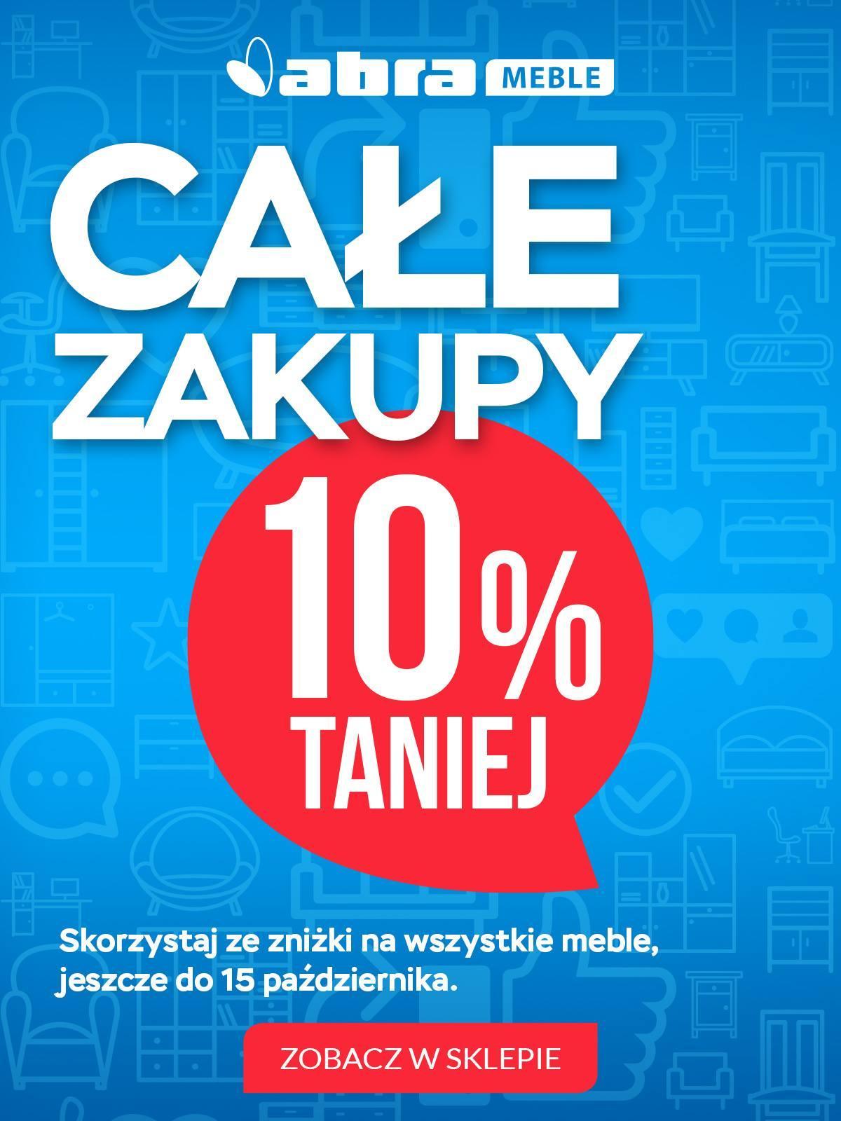 Gazetka promocyjna Abra Meble do 25/10/2018 str.1
