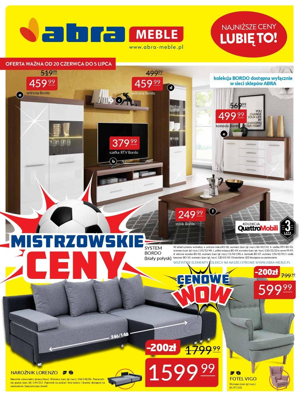 Gazetka promocyjna Abra Meble do 05/07/2018 str.0