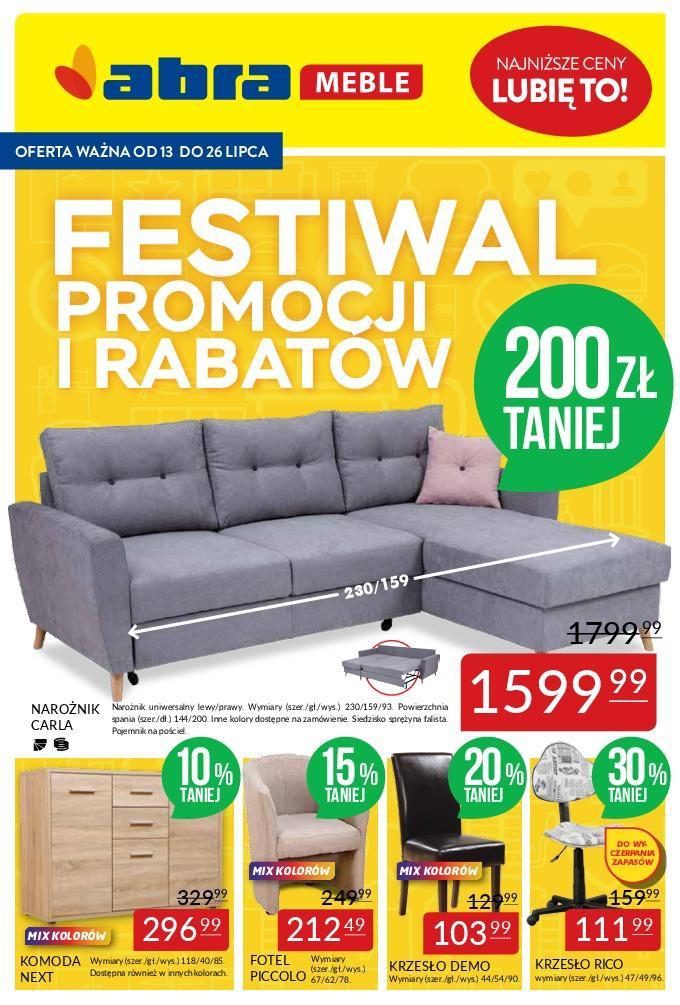 Gazetka promocyjna Abra Meble do 26/07/2018 str.1