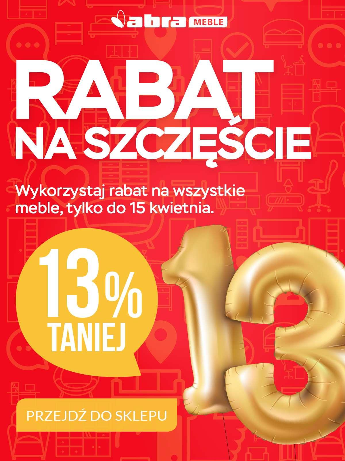 Gazetka promocyjna Abra Meble do 15/04/2018 str.0