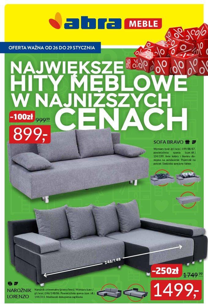 Gazetka promocyjna Abra Meble do 29/01/2018 str.0