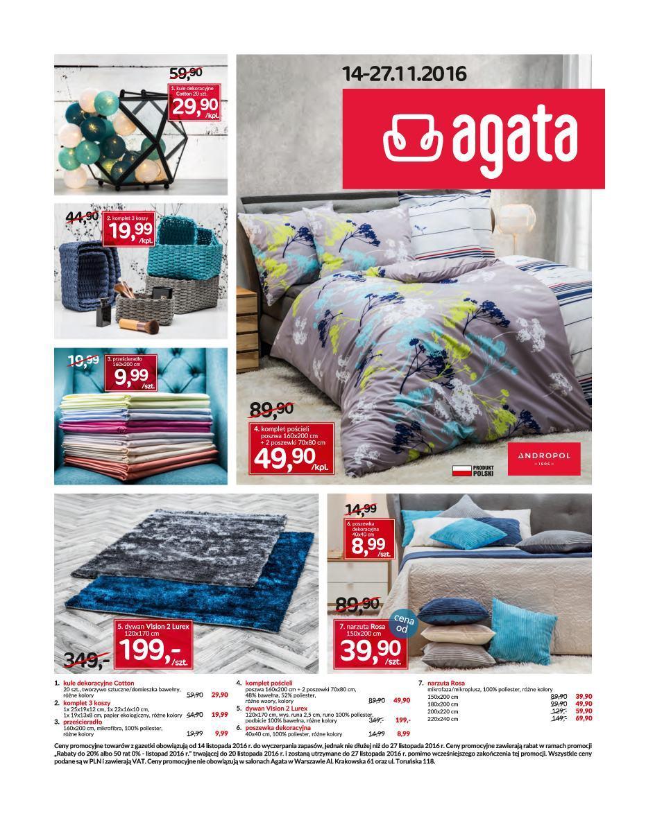 Gazetka promocyjna Agata Meble do 27/11/2016 str.1