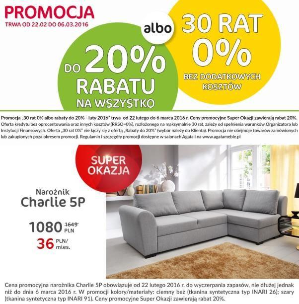 gazetka promocyjna i reklamowa agata meble od 23022016