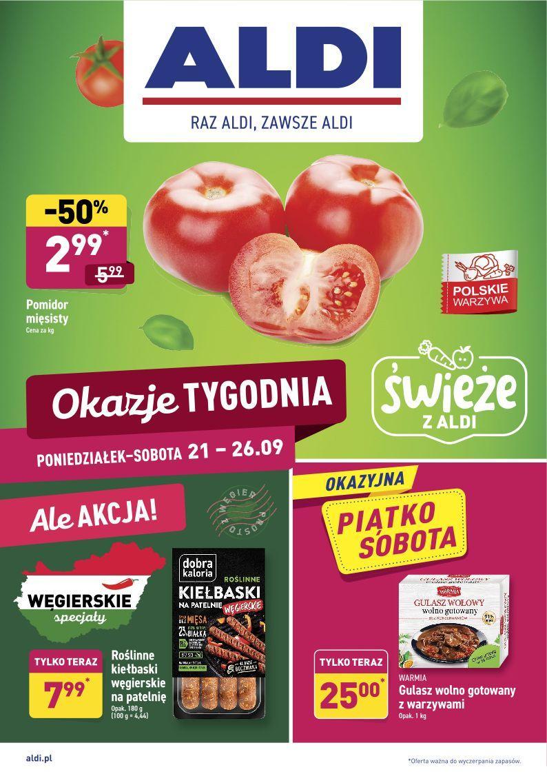Gazetka promocyjna ALDI do 27/09/2020 str.1
