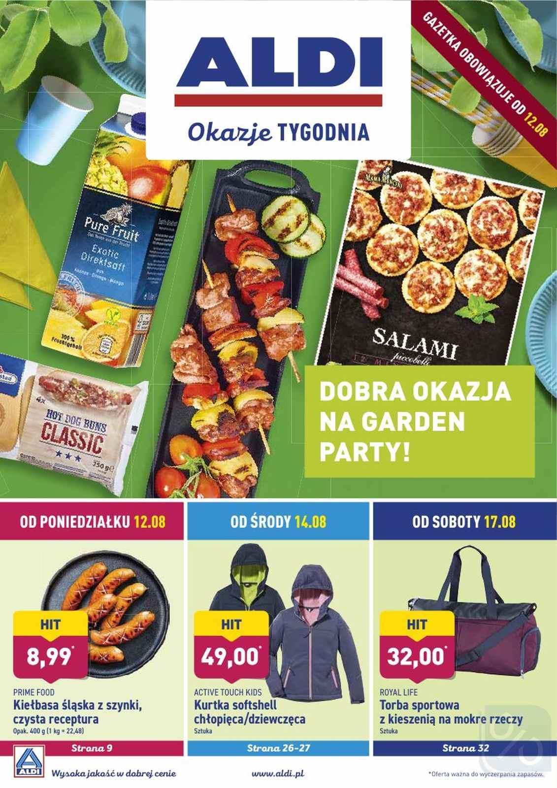 Gazetka promocyjna ALDI do 17/08/2019 str.1