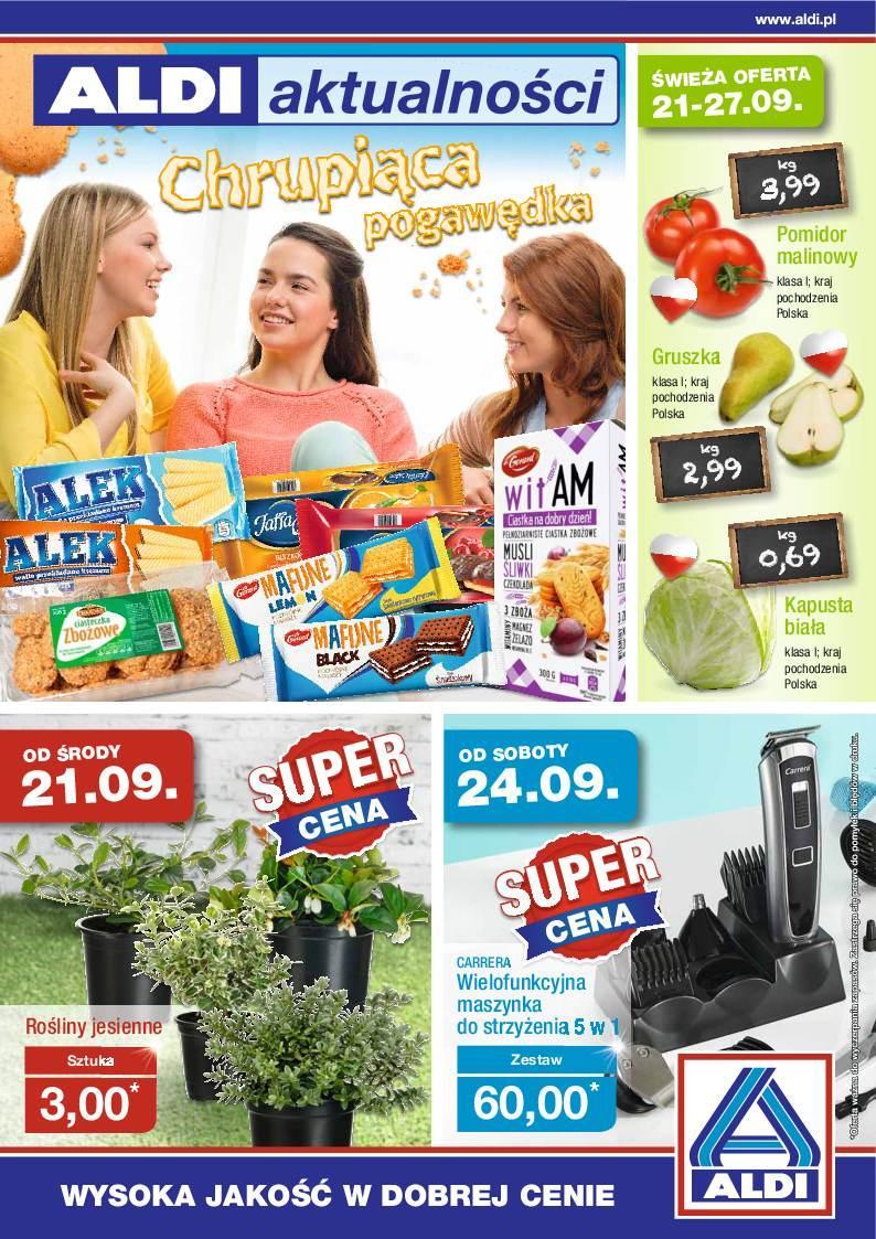 Gazetka promocyjna ALDI do 27/09/2016 str.0
