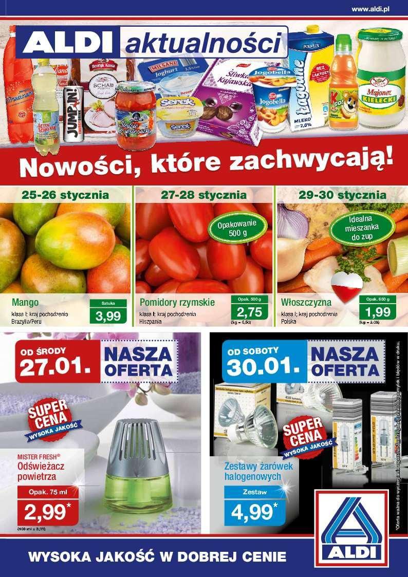 Gazetka promocyjna ALDI do 31/01/2016 str.0